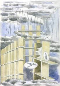 Mansions of the Dead 1932 by Paul Nash 1889-1946